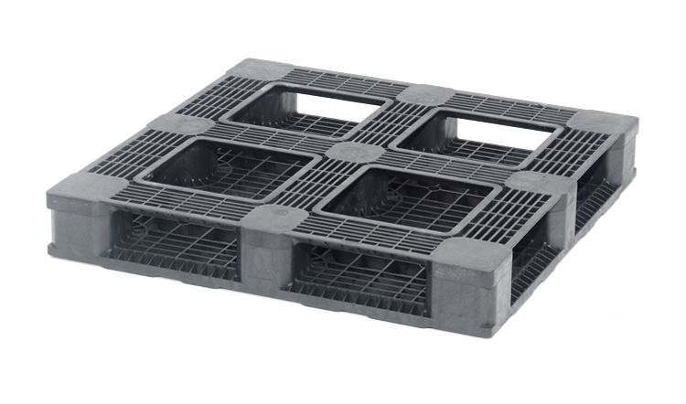 Plastic container Pallet 1140x1140x165 mm, 6 runners, open deck