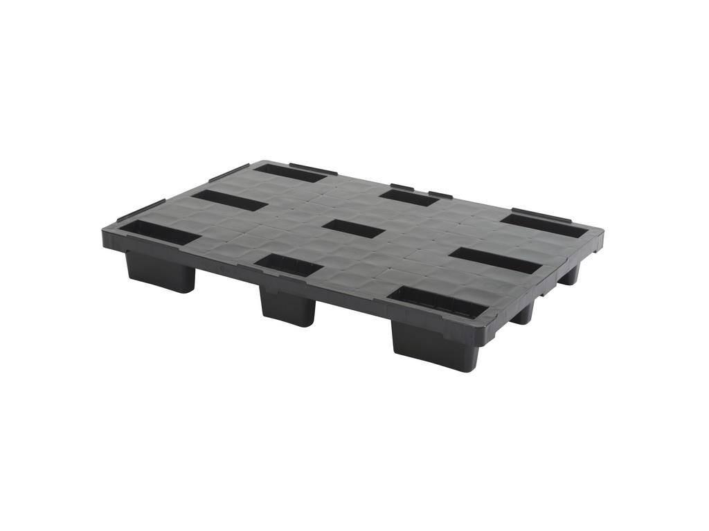 Plastic Nestable pallet 1200x800x155 mm, closed deck, light weight