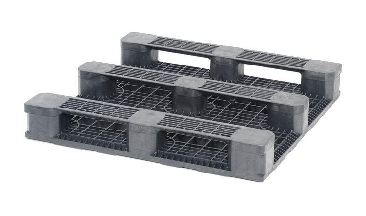 Kunststof container pallet 1140x1140x165 mm 3 onderlatten, open dek