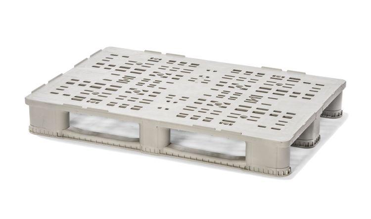 Euro-Mass Kunststoff Palette 1200x800x157 mm, 3 Kufen, Offenes Deck