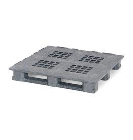 Industrie/Block-Pallet 1200x1200x165 mm , 3 onderlatten , open