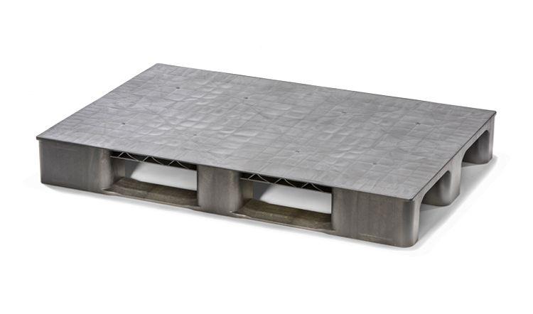 Kunststof Eco-Pallet  1200x800x150 mm 2 onderlatten , gesloten dek