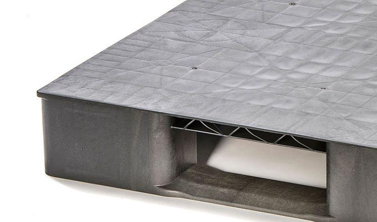 Palette Eco plastique 1200x800x150 mm, 2 traverses. planché fermé
