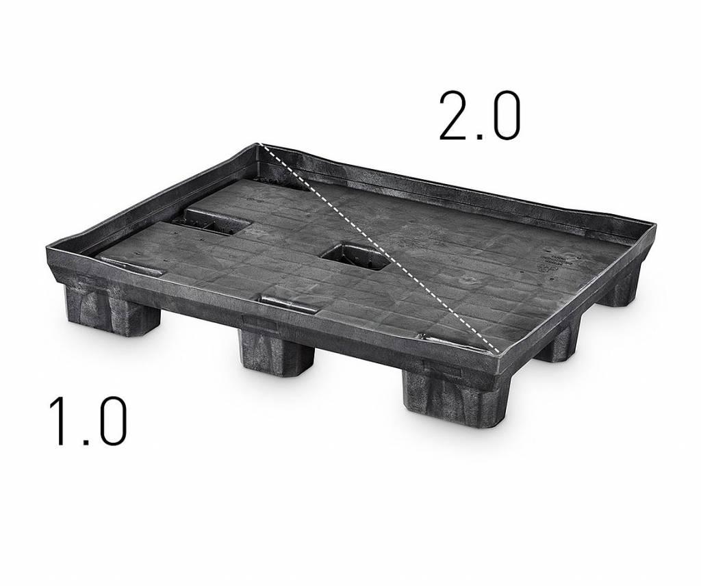 Faltbehälter 1210x1010x990 mm 9 Füssen.