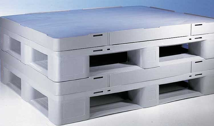 Sleeve Pack  plastique1200x800x940 mm 3 semelles, planché  palette fermé .