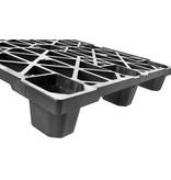 Nestable plastic export pallet 1200x1000x140 with 9 feet, open deck
