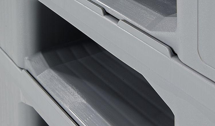 Hygienische Kunststoff Palette 1200x1000x160 mm, 3 Kufen, Geschlossenes Deck