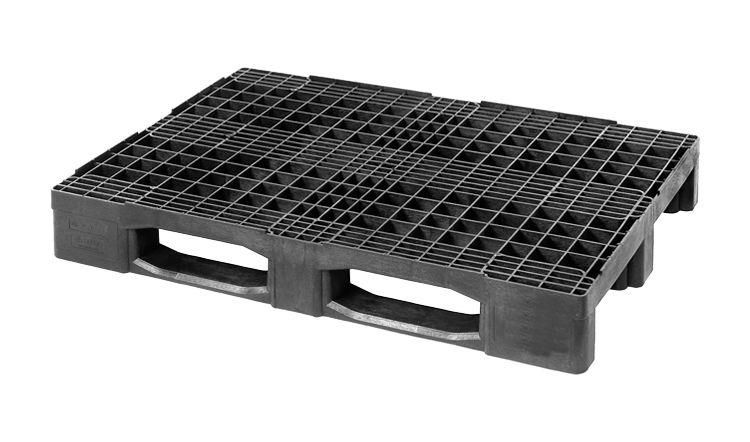 Kunststoff  Schwerlast Euro-Palette 1200x800x160 mm , 3 Kufen,  Offen