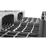 Kunststoff zwaarlast Euro-Pallet 1200x800x160 mm , 3 onderlatten,  open dek