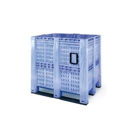 Höhe Palettenbox, 1300x1150x1250 mm, 1400 Liter, 3 Kufen,  offen