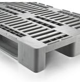 H1, Palette plastique hygiënique 1200x800x160 mm, 3 semelles, ajouré, Idéal pour l'industrie alimentaire