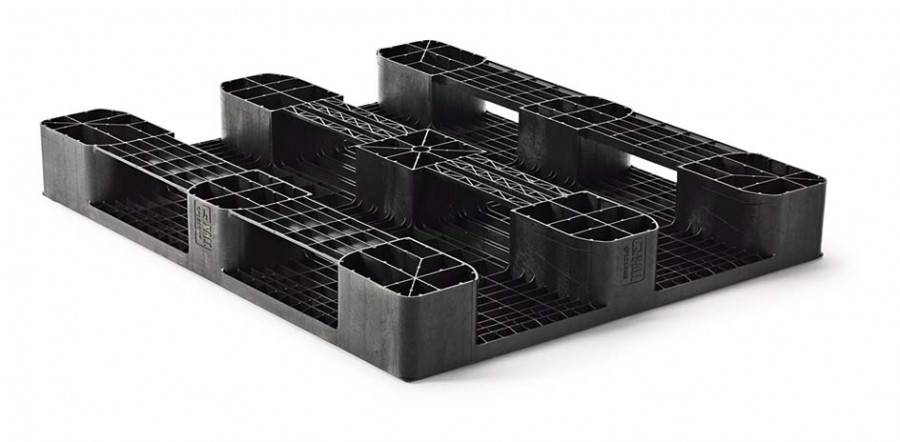 Industrial  Medium Load plastic Pallet 1200x1000x160 mm 3 Runners, open deck