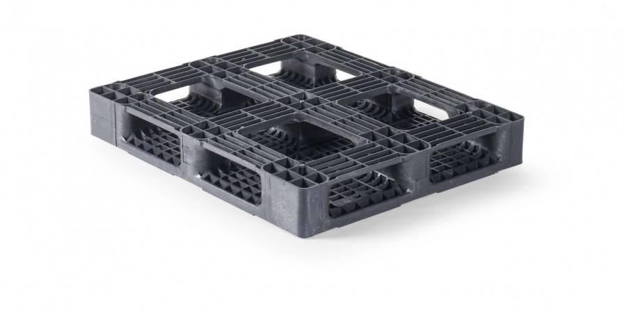 Zwaarlast  Kunststof Block-Pallet 1200x1000x165 mm , 6 onderlatten, open dek