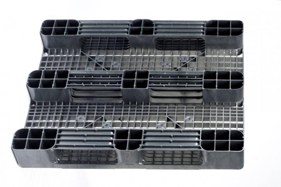Industrial  plastic Pallet 1200x1000x160 mm, 3 Runners, open deck