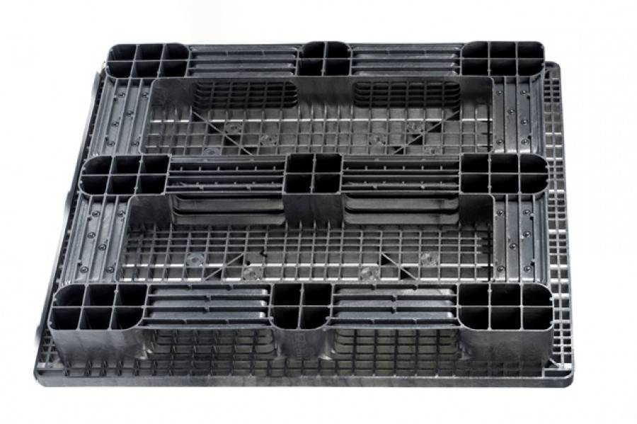 Kunststof Pallet 1300x1100x160 mm, 5 onderlatten, open dek