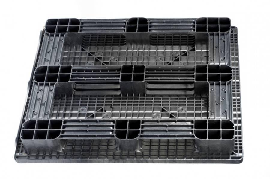 Kunststoff Palette 1300x1100x160 mm, 5 Kufen, Offen
