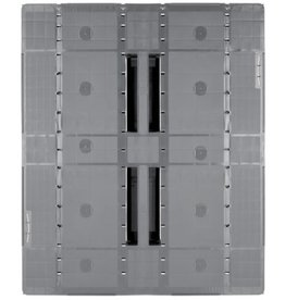 Industrie-Pallet 1200x1000x150 mm , 3 onderlatten, Semi-Gesloten