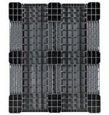 Kunststoff Industriepalette 1200x1000x150 mm, 3 Kufen