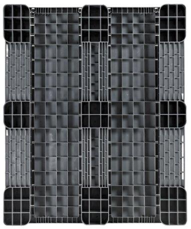 Plastic Industrial-Pallet 1200x1000x150 mm, 3 Runners, semi closed