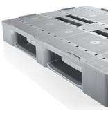Kunststof Industrie-Pallet 1200x1000x150 mm , 3 onderlatten, Semi-Gesloten dek