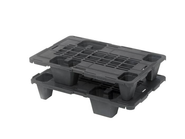 Plastic Display Nestable pallet 600x400x115, 4 feet