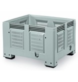 Plastic Pallet boxes 1200x1000x760 perforated walls and bottom, 4 feet