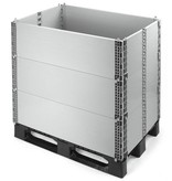 Rehausse palette en plastique 1200x800x330 mm,  Emballage multi-usage pliable