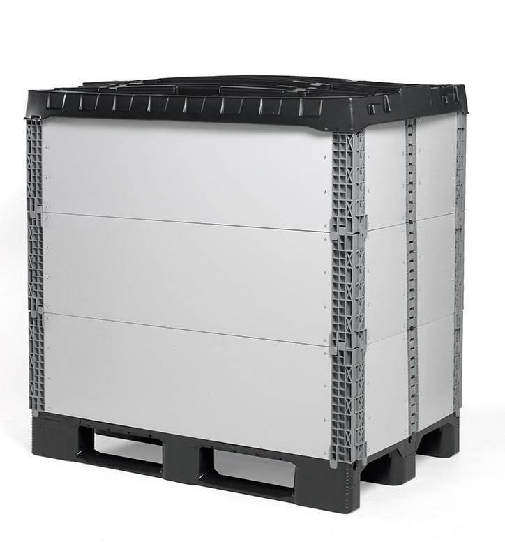 Plastic pallet collars 1200x1000x330, Foldable