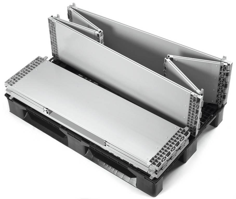 Kunststoff Paletten-Aufsatzrahmen 1200x1000x330 mm