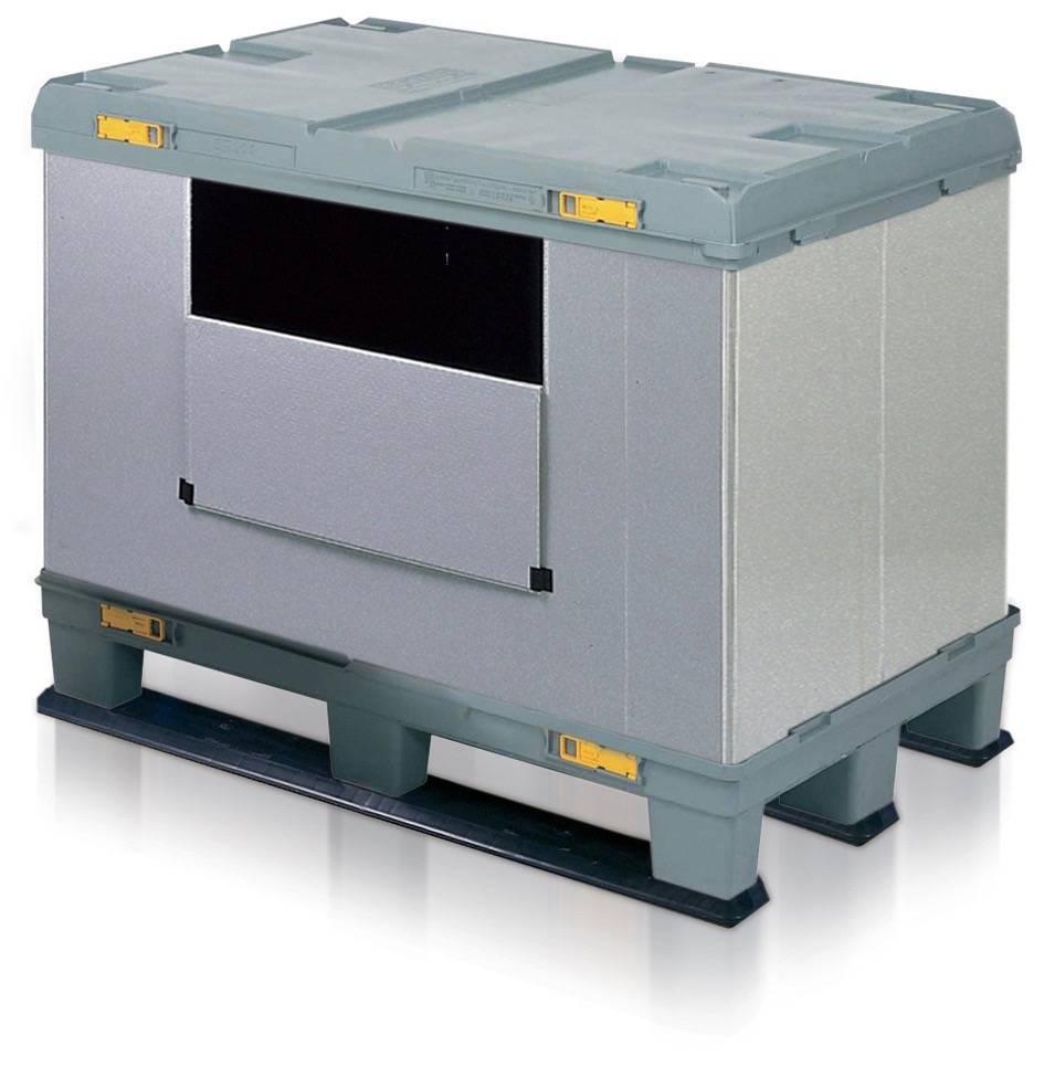 Boxerpac, Faltbehälter 1200x800x940 mm 3 Kufen.