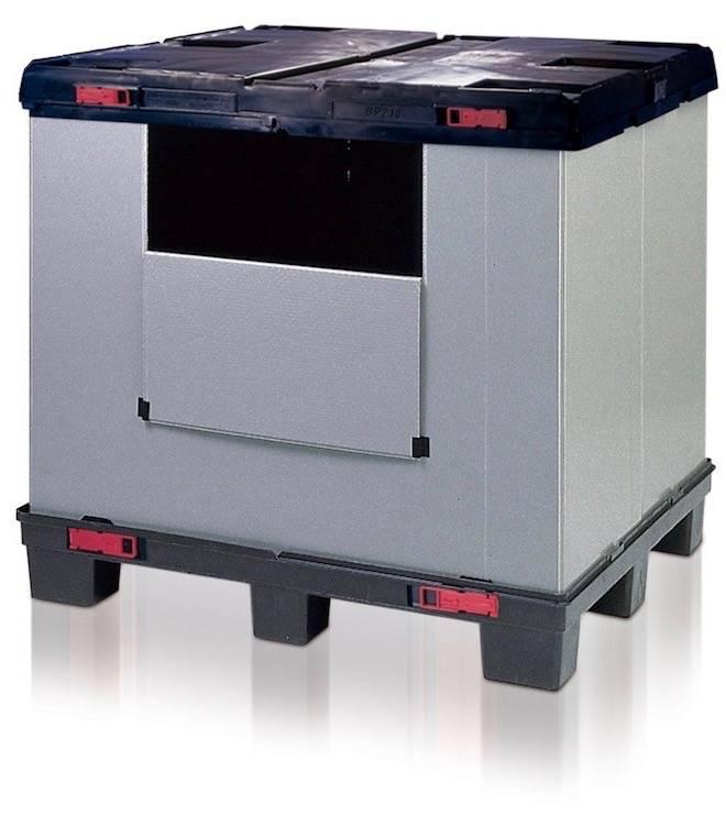 Boxerpac, Faltbehälter 1200x1000x1100 mm 3 Kufen.
