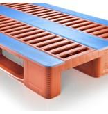 Palette hygiënique en plastique 1200x800x160 mm, 3 semelles ,CR&, anti-glisse
