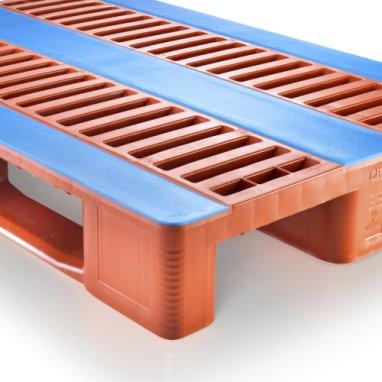 Kunststof hygiëne pallet 1200x800x160mm,CR1, met 3 onderlatten, anti slip