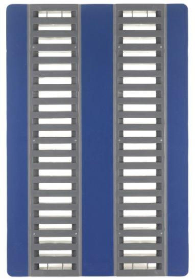 Palette hygiënique  plastique charges lourdes  1200x800x160 mm, 3 semelles ,CR1, bandes antidérapante