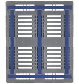 Palette industrielle CR3 1200x1000x160 mm, 3 traverses , charges lourdes, ajouré