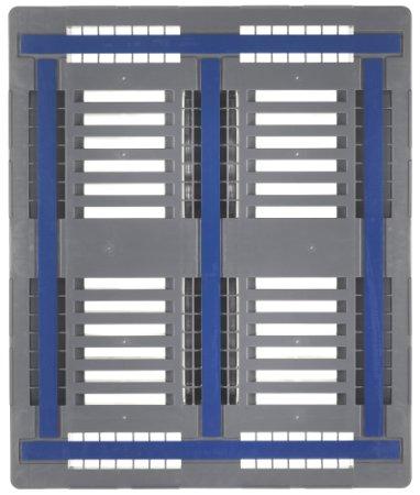 Palette plastique industrielle CR3 1200x1000x160 mm, 3 traverses, lamelles anti-slip