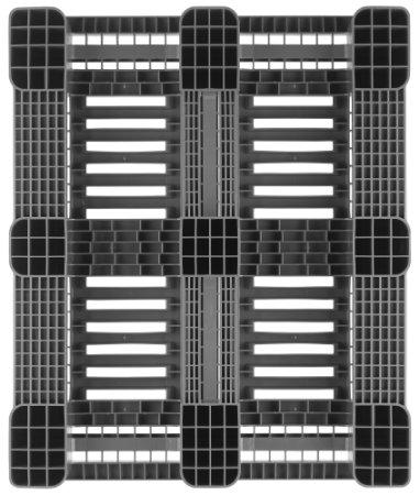Kunststoff Industrie/Blok Palette 1200x1000x160 mm, 3 Kufen, anti-rutsch strips