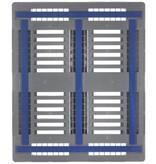 Kunststof Industrie-Block-Pallet CR3-5 1200x1000x160 mm, 5 onderlatten en antislip strips