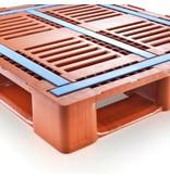 Palette plastique industrielle CR3-5 1200x1000x160 mm, 5 traverses, lamelles anti-slip glisse