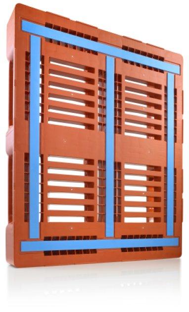 Kunststoff Industrie/Blok Palette CR3-5, 1200x1000x160 mm, 5 Kufen, anti-rutsch strips