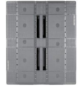 Industrie-Pallet 1200x1000x150 mm , 3  gelaste onderlatten, Semi-Gesloten