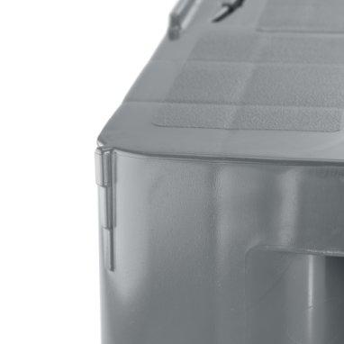 Palette industrie en plastique 1200x1000x160 mm, 3 semelles soudées , planché Semi fermé