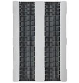 Kunststoff Industriepalette 1200x800x150 mm, 3 Geschweißte Kufen , halb Geschlossen