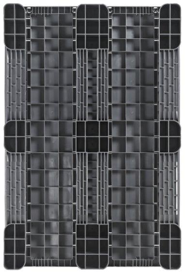Kunststoff Industriepalette 1200x800x150 mm, 3 Kufen, halb Geschlossen
