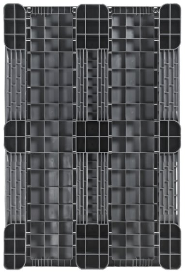 Plastic Industrial-Pallet 1200x800x150 mm, 3 Runners, semi closed
