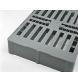 Kunststoff Hygiene Palette H2, 800x600x160 mm,  Offenes Deck,  2 Kufen
