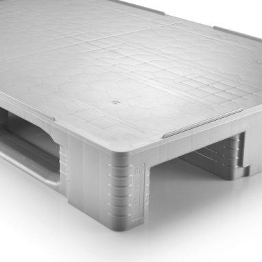 Palette hygiénique plastique 1200x800x160 mm, 3 semelles , planché  fermé