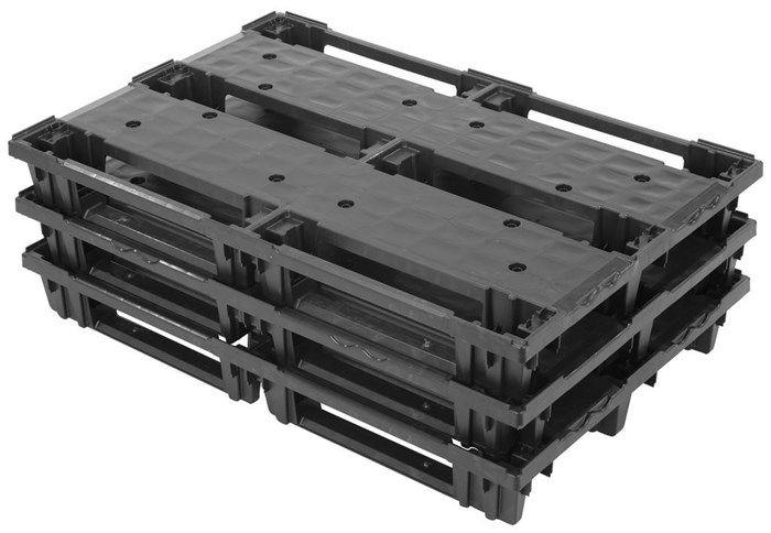 Plastic EURO pallet 1200x800x140 , nesting , runners, Light weight, 200 kg in Rack