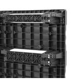 Palette Euro en plastique 1200x800x140, emboitable avec semelles, charges légères, 200 kg en rayonnages
