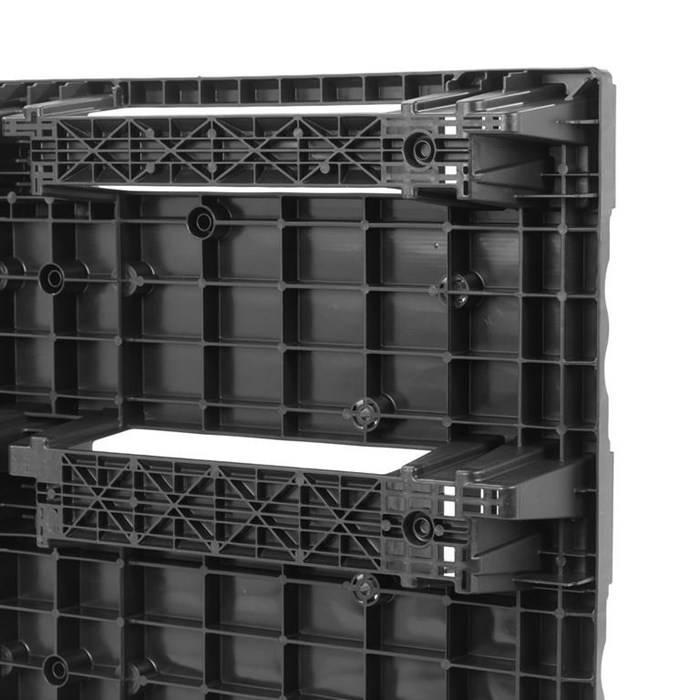 Kunststoff EURO Palette 1200x800x140, Nestbar, Kufen, geringes Gewicht Paletten, 200 kg in Regal